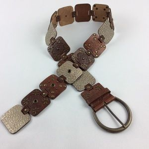 Leather belt boho size small boho square designs